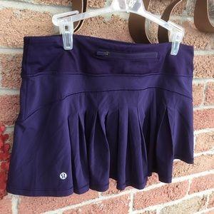 Lululemon Tennis Skirt With Shorts Size 8 Purple
